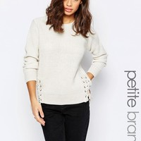 New Look Petite Lace Side Jumper
