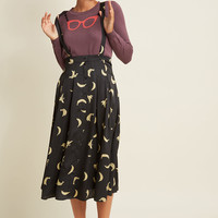 The Peel Deal A-Line Midi Skirt