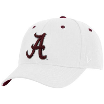 Zephyr Alabama Crimson Tide White DH Fitted Hat