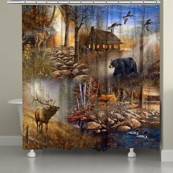Forest Collage Shower Curtain