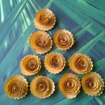 metallic gold carnations paper flowers Roses Loose table decoration wedding Bridal Shower Decor home decor Baby nursery party decoration