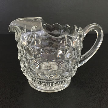 vintage Fostoria Glass Co. clear glass water pitcher AMERICAN
