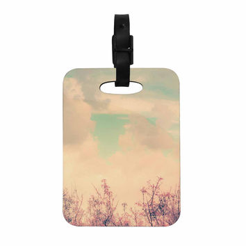 "Graphic Tabby ""Spring Daydream"" Blue Nature Decorative Luggage Tag"
