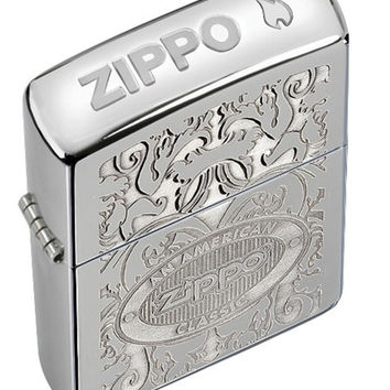 Zippo American Classic Crown Stamp High Polish Chrome Lighter