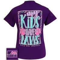 Girlie Girl Originals Preppy My Kids Have Paws T-Shirt