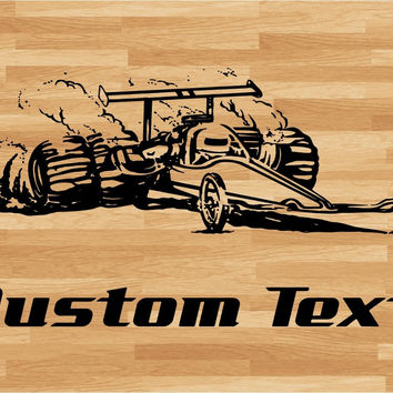 Drag Racing Dragster Car Wall Decal - Auto Wall Mural - Vinyl Stickers - Boys Room Decor