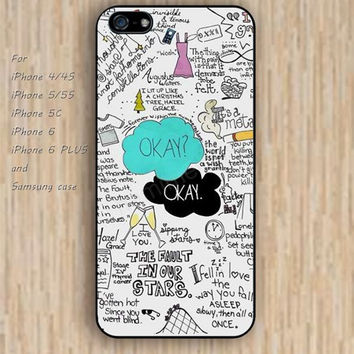 iPhone 6 case dream okay star iphone case,ipod case,samsung galaxy case available plastic rubber case waterproof B184