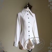 Gothic Punk Lolita Bat Edges Blouse* Lady Version