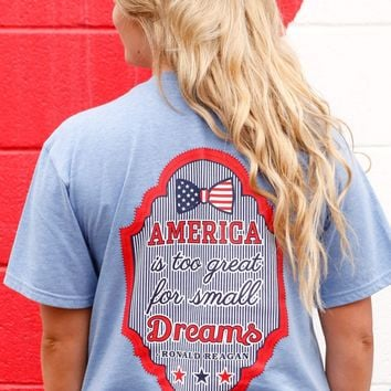 Jadelynn Brooke America is Too Great (Baby Blue) - Short Sleeve Ronald Reagan