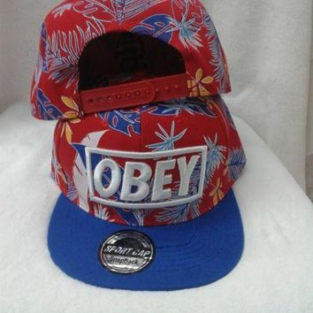 VONEED Obey Floral Snapback Cap Snapback Hat - Ready Stock