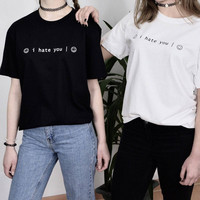 """""""I Hate You Smiley Face"""" Tee"""