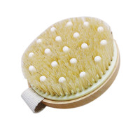 Bath Shower Bristle Brushes Massage Body Brush with Band Wooden Shower Body Bath Brush
