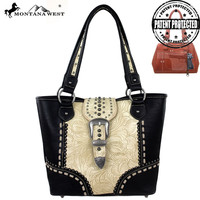 Montana West MW142G-8317 Buckle Concealed Carry Handbag