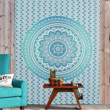 ESBU3C Bohemia Indian Mandala Tapestry Wall Hanging Tapestries Boho Bedspread Beach Towel Yoga Mat Blanket Table Cloth