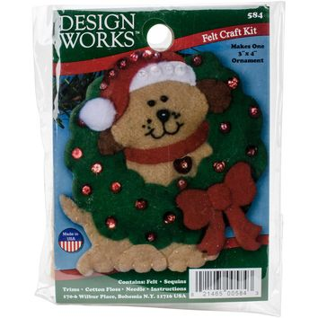 "Dog Design Works Felt Ornament Applique Kit 3""X4"""