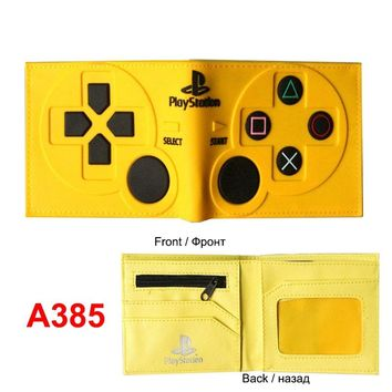 2017 New Japan Multicolor Game Machine Playstation Men Wallet Slim Leather Student Photo Money Pockets Female Purse Cards Holder