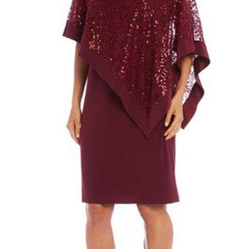 R&M Richards Mother of the Bride Poncho Dress
