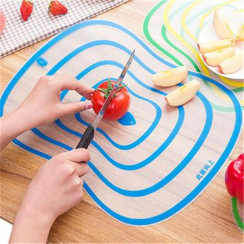 Hot Sale Portable Plastic Chopping Block Non-slip Frosted Antibacteria Cutting Board Vegetable Meat Essential Kitchen Tools HA52