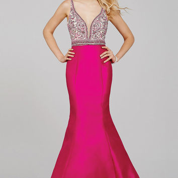 Fuchsia Pink Mermaid Prom Dress 29318