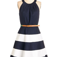 ModCloth Nautical Halter Fit & Flare It's All for Cute Dress