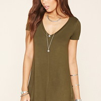 V-Neck T-Shirt Dress