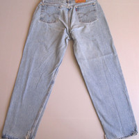 """Vtg Levi's 560 Loose Fit Mom Jeans High Waisted 16 Straight Leg 33"""""""