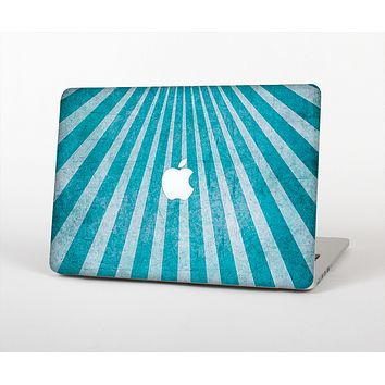 The Scratched Striped Blue Rays Skin for the Apple MacBook Air 13""