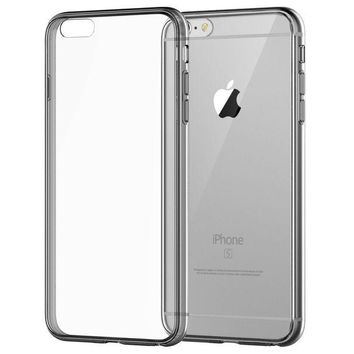 DCCKRQ5 iPhone 6 Case, JETech Apple iPhone 6/6s Case Shock-Absorption Bumper and Anti-Scratch Clear Back for iPhone 6s iPhone 6 4.7 Inch (Grey) - 3195