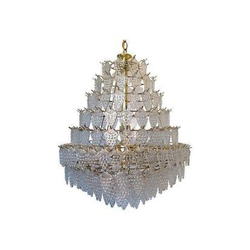 Pre-owned Mid-Century Modern Lucite Grapes Chandelier