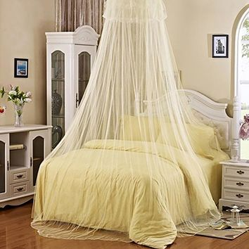 BLUELANS Elegant Lace Summer Mosquito Net Round Insect Reject Net Bed Canopy Polyester Mesh Mosquito Net Bedding Drop Shipping