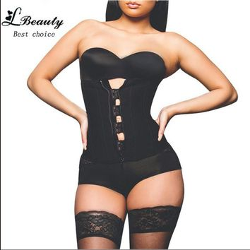 Women Best Body Shaper Zipper Rubber Latex Waist Cinchers