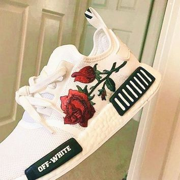 Adidas Off-White Floral Embroidered Sneakers Sport Shoes G-CSXYQGCZDL-CY