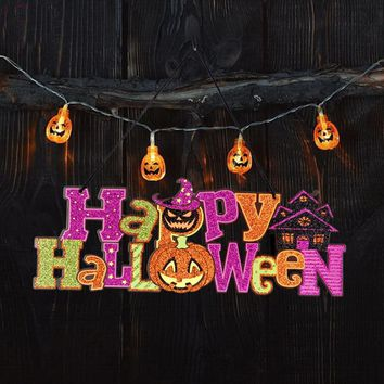 hanging decoration Halloween Decoration Props Flash Label Window Bar KTV Ghost Festival Scene Layout Dropshipping 18aug16