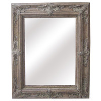 Antique Wood Traditional Rectangular 30-inch Wall Mirror   Overstock.com