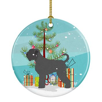 Black Russian Terrier Christmas Ceramic Ornament BB8455CO1
