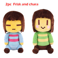 2 pc of NEW UNDERTLE  Frisk and Chara  PLUSH 20CM Great Gifts for Christmas or Birthdays