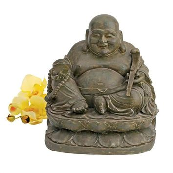 SheilaShrubs.com: Laughing Buddha Sanctuary Statue NY400540 by Design Toscano: Garden Sculptures & Statues
