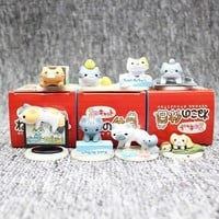 (CUTE!) Neko Atsume Kyuujitsu Cat Figure Models 8pc/set #JU1952