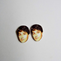 Ezra Koenig Earrings Celebrity Studs Funny Novelty Gift