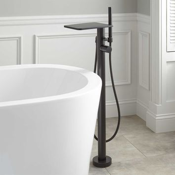 MODERN FREESTANDING TUB FAUCET (black/chrome/nickel)