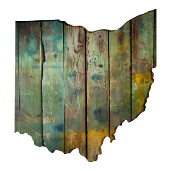 Ohio Faux Wooden wall decal