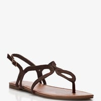 Staple Cutout Thong Sandals