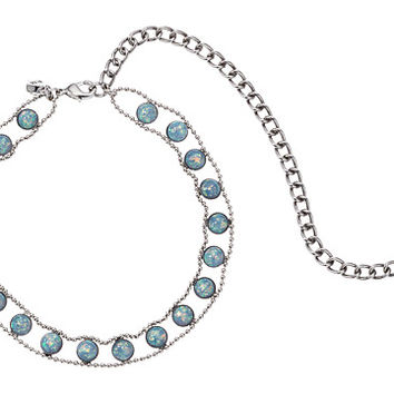 Rebecca Minkoff Opal Illusions Choker Necklace Antique Silver/Blue Opal - Zappos.com Free Shipping BOTH Ways