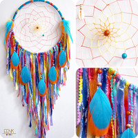 Calypso the Island Sea Nymph Large Native Style Handwoven Dream Catcher