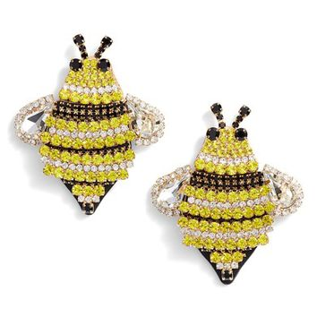 kate spade new york picnic perfect jeweled bee earrings | Nordstrom