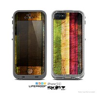 The Grungy Color Stripes Skin for the Apple iPhone 5c LifeProof Case