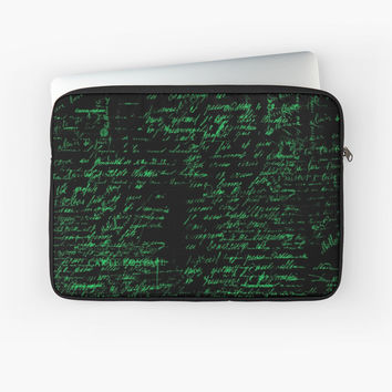 'Vintage Handwriting' Laptop Sleeve by berwies