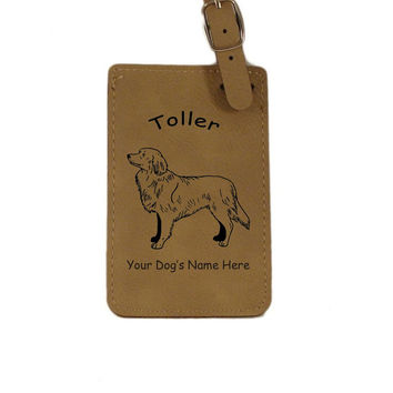 L3622 Nova Scotia Duck Tolling Retriever Personalized Luggage Tag