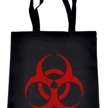 Red Bio-Hazard Radiation Tote Book Bag School Cyber Goth Zombie