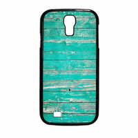 Teal Wood Samsung Galaxy S4 Case